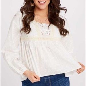 Altard's State embroidered boho top size s